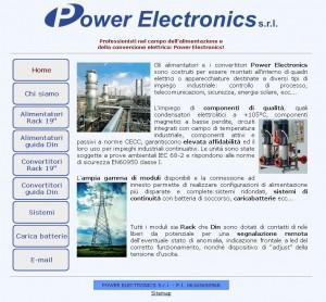 Anteprima del sito della Power Electronics