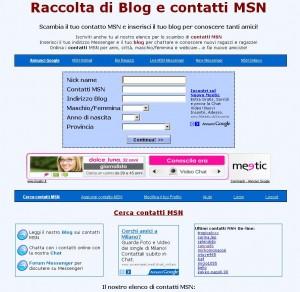 Anteprima del sito Contatti-MSN.net